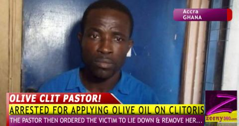 "PASTOR ARRESTED FOR ""ANOINTING"" TEEN'S CLITOR!S"