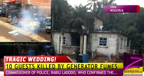 UPDATE: TRAGIC WEDDING AS TWINS, 8 OTHER GUESTS DIE BY GENERATOR FUMES IN IMO