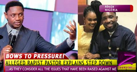 Alleged rapist pastor explains step down