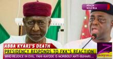 ABBA KYARI'S DEATH: PRESIDENCY RESPONDS TO FEMI FANI-KAYODE REACTION