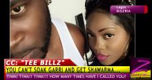"Tiwa Savage and Tunji ""Tee Billz"" Balogun"