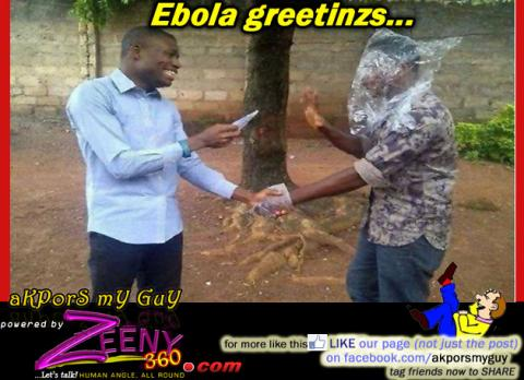 Greeting the Ebola way...