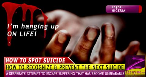 HOW YOU CAN POSSIBLY RECOGNIZE & PREVENT THE NEXT SUICIDE!