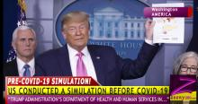 LEAKED: TRUMP ADMINISTRATION'S DEPARTMENT OF HEALTH & HUMAN SERVICES RAN PRE COVID-19 SIMULATION!