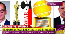 "TRADEMARK WAR! OSCARS ""a repressive gigantic organization that's out to muzzle perceived"" UNIMAA"